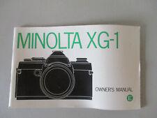 MANUAL NOTICE MODE D'EMPLOI  MINOLTA XG-1 ENGLISH ANGLAIS