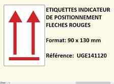 25 ex étiquette expédition de placement avec flèche imprimé en rouge 9 x 13  cm