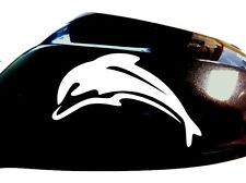 Dolphin Car Sticker Wing Mirror Styling Decals (Set of 2), White
