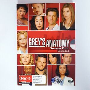 Greys Anatomy TV Series Season 4 DVD Region 4 PAL AUS Free Postage