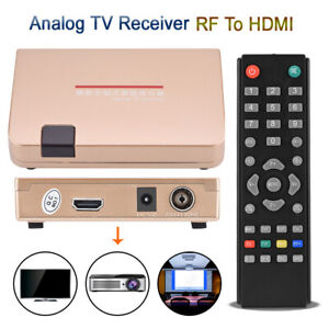 RF to HDMI All-standard Converter Analog TV Receiver Adapter Remote Control