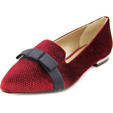 Mocassini e ballerine da donna Pantofole rosso tessile