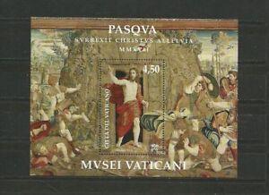 Vatican 2017 Easter Mini sheet Vaticano MNH