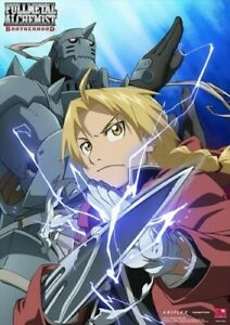 Fullmetal Alchemist Ed and Al Activated Poster Wall Scroll (27.8 x 19.7 inches)