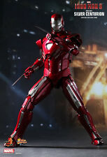 "Hot Toys Iron Man 3 MARK XXXIII 33 SILVER CENTURION 12"" Figure 1/6 Scale MMS213"