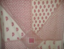Vintage Bohemian Indienne Paisley Floral Textured Cotton Fabric~Raspberry Cutter
