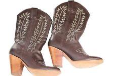 Miranda Lambert Women's Brown Design Stitched Cowboy aka Cowgirl Boots Sz 9M