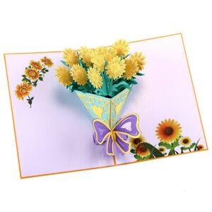 3D Pop Up Card Birthday Mother's Day Unicorn Bouquet Cake Seasonal Greetings UK