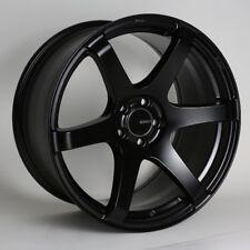 17x8 Enkei T6S 5x114.3 +35 Black Rims Fits Mazda 3 Accord Rsx Tsx