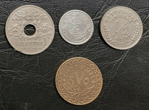 SYRIA:-French protectorate, 4 pre WWII coins dated 1929-36.  C008