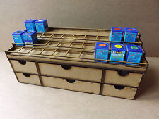 Soporte de pintura 40 Pot rack cajones de almacenamiento Revell Aqua Color Warhammer 40k wargame