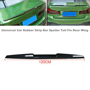 Universal Car SUV Rubber Strip Bar Spoiler Tail Fin Rear Wing Tailgate Hatchback