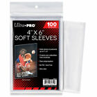 """(1) Ultra Pro 4"""" x 6"""" Soft Sleeves 100 Count Ultra Clear Free USPS Shipping!"""