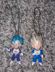 Dragon Ball Z Key Chain - Lot Of 2 - Blue Hair Silver Hair - Miniature Figures