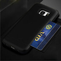 Smart Shockproof Hybrid Armor Card Slot Hard Case for Samsung Galaxy S7 /S7 Edge