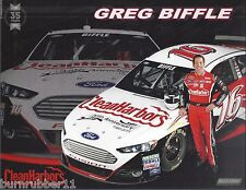 "2015 GREG BIFFLE ""CLEAN HARBORS FORD FUSION #16"" NASCAR SPRINT CUP POSTCARD"