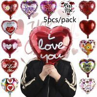 5pcs/lot Party Decor Aluminum Foil Balloon Mother's Day Heart Shape I LOVE YOU