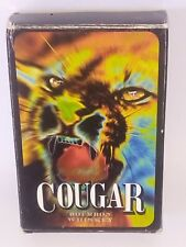 Cougar Bourbon Whiskey Playing Cards From the late 1990s