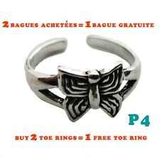 Bague de pied orteil papillon argent 925 /Butterfly toe ring sterling silver 925
