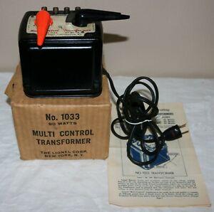 1950's Lionel 90 Watt Transformer #1033 in Box with Paper and Original Cord LN