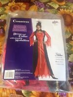 Lady Countess Nobel Woman Costume Large 40-42 Complete + Medallion Brand New