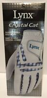 LYNX Women's Right Golf Gloves Crystal Cat Large Sheepskin Leather New