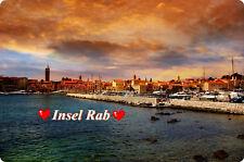 Kühlschrankmagnet,Magnetschild,Magnet-Motiv:Insel Rab II (Kroatien)