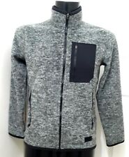 New Abercrombie & Fitch homme full zip polaire, gris chiné-XS