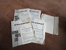 Vtg Coldspot Refrigerator Sears Repair Parts Lists Blow Up Diagrams Lots Info