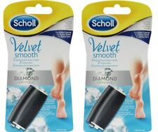 4 x GENUINE Scholl Velvet Smooth Diamond Crystals Replacement Roller Heads New