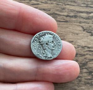 ROMAN. TIBERIUS (14-37 A.D). SILVER DENARIUS. 'TRIBUTE PENNY' OF THE BIBLE.