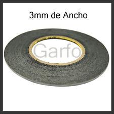 ROLLO DE 50M CINTA ADHESIVA DE DOBLE CARA DE 3MM NEGRO NEGRA