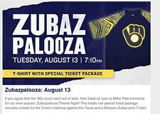 2019 Milwaukee Brewers 1990s Zubaz Shirt L Theme Night SGA 8-13 Zubazpalooza