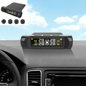 Wireless TPMS LCD Car Tire Pressure Monitoring System With 4 External Sensors
