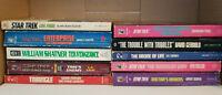 Star Trek Book Lot TNG TOS Deep Space Nine Shatner Romulan Tribbles Paperbacks