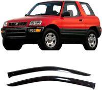 For Toyota Rav4 3d 1994-2000 Side Window Visors Sun Rain Guard Vent Deflectors