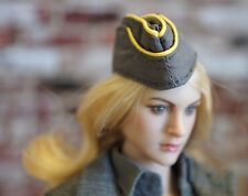 "Female German Military Beret Cap Hat  Phicen 1/6 Scale 12"" Seamless Doll"