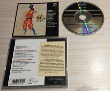 CD ALBUM CLASSIQUE MANUEL DE FALIA EL SOMBRERO NOCHES EN LOS JARDINES DE ESPANA