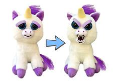 Feisty Pets Stuffed Animal Plush Toy Scary Cute Prank Glenda Squeeze Unicorn New