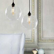 Retro Industrial Globe Loft Cafe Glass Ceiling Pendant Hanging Light Lamp Shade