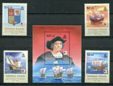 SOLOMON ISLANDS 2006 CHRISTOPHER COLUMBUS - SHIPS SET AND SHEET - $21.50 VALUE!