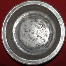 Antique folk hand made tinned copper bowl