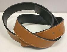 Double face ceinture en cuir pour utilisation universelle-unisexe - 136.5cmX3.7cm - marron/noir