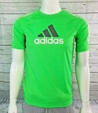 ADIDAS Men's Green  Short Sleeve T-Shirt 100% Polyester size XL-EG - 18