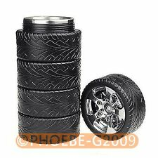 Car Wheel Tire Cup Travel Mug Creative Stainless Steel Liner Coffee Cup