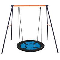 "Premium Porch Swing Frame Set + 40"" Large Kids Saucer Tree Swing Heavy Duty"