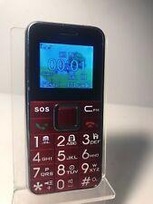 HSV708-Rojo (Desbloqueado) Teléfono Móvil-Big Button simple y fácil