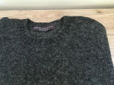 Gents Pure Shetland Saddle Shoulder Crew Neck Sweaters Made in Scotland