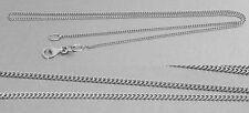 Feine Silberkette 925 massiv Kinderkette 38 cm Halskette mit Karabiner