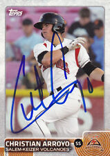 CHRISTIAN ARROYO SALEM-KEIZER VOLCANOES SIGNED CARD SAN FRANCISCO GIANTS RAYS
